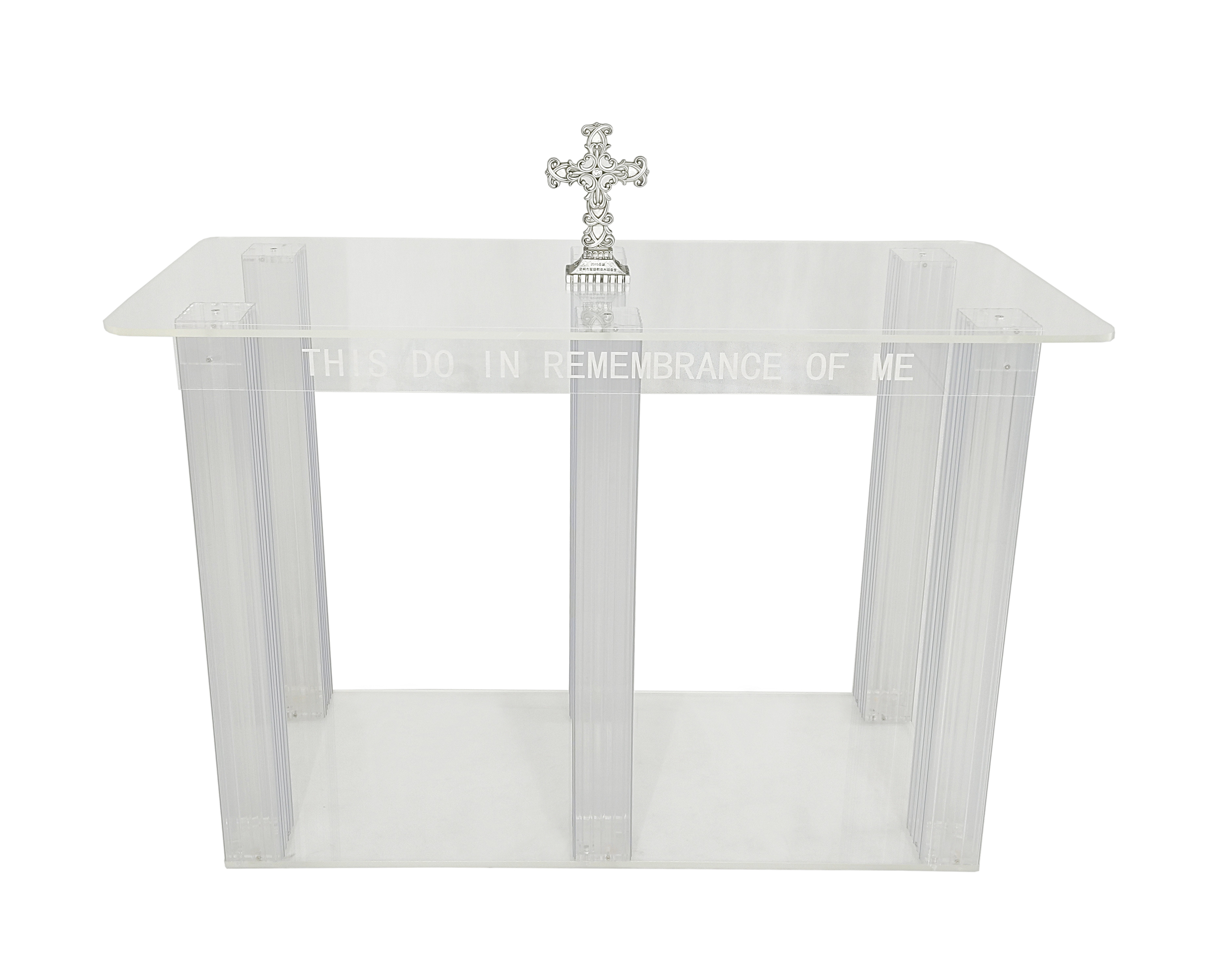 Image Is Loading Clear Acrylic Plexiglass Church Communion Table Desk 11461