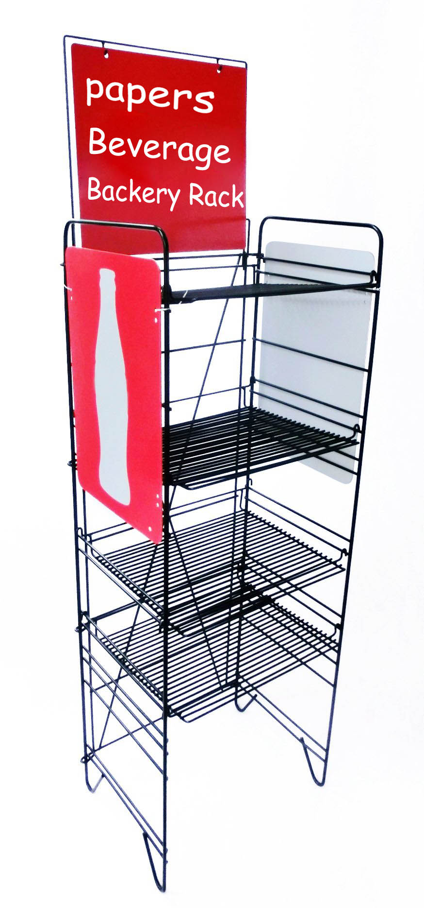 Beverage Display Soda Rack Wire Metal Stand Floor Display