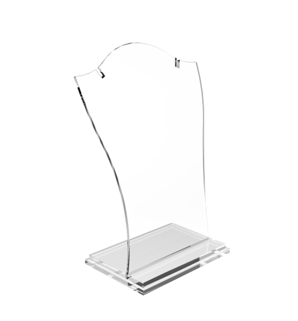 Image Is Loading Clear Acrylic Plexigl Necklace Jewelry Stand Countertop Display