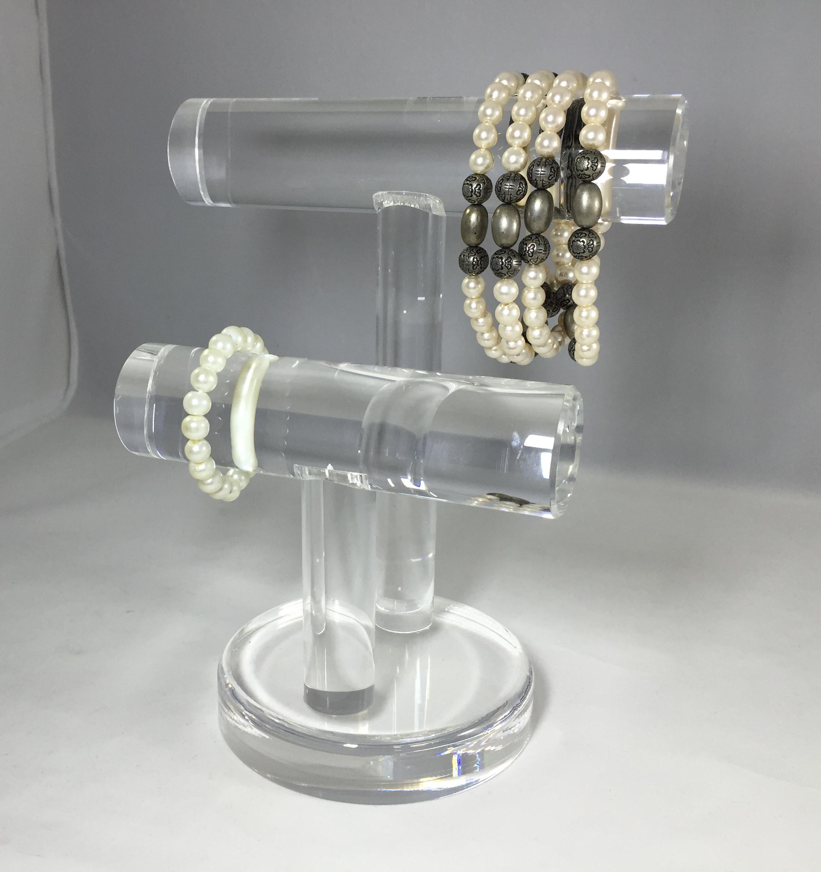 Clear Acrylic Plexiglass Watch Bracelet Jewelry Stand