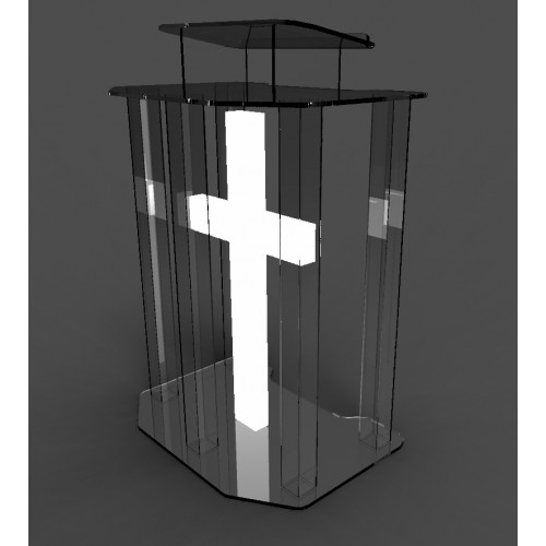 lighted detailed cross religion decor holiday wht acrylic led 11673 ebay. Black Bedroom Furniture Sets. Home Design Ideas
