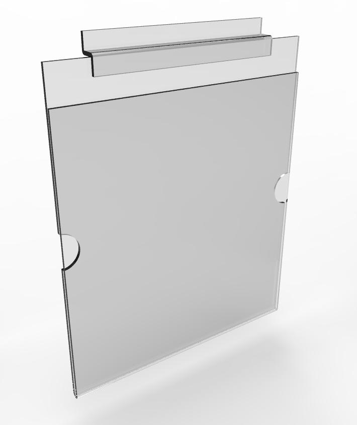 clear plexiglass acrylic slatwall literature holder portrait picture photo frame ebay. Black Bedroom Furniture Sets. Home Design Ideas