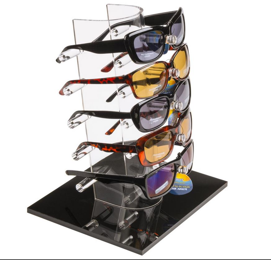 abcc820292 5-Pair Sunglasses Display Eyewear Rack Reading Glasses Stand Fashion ...