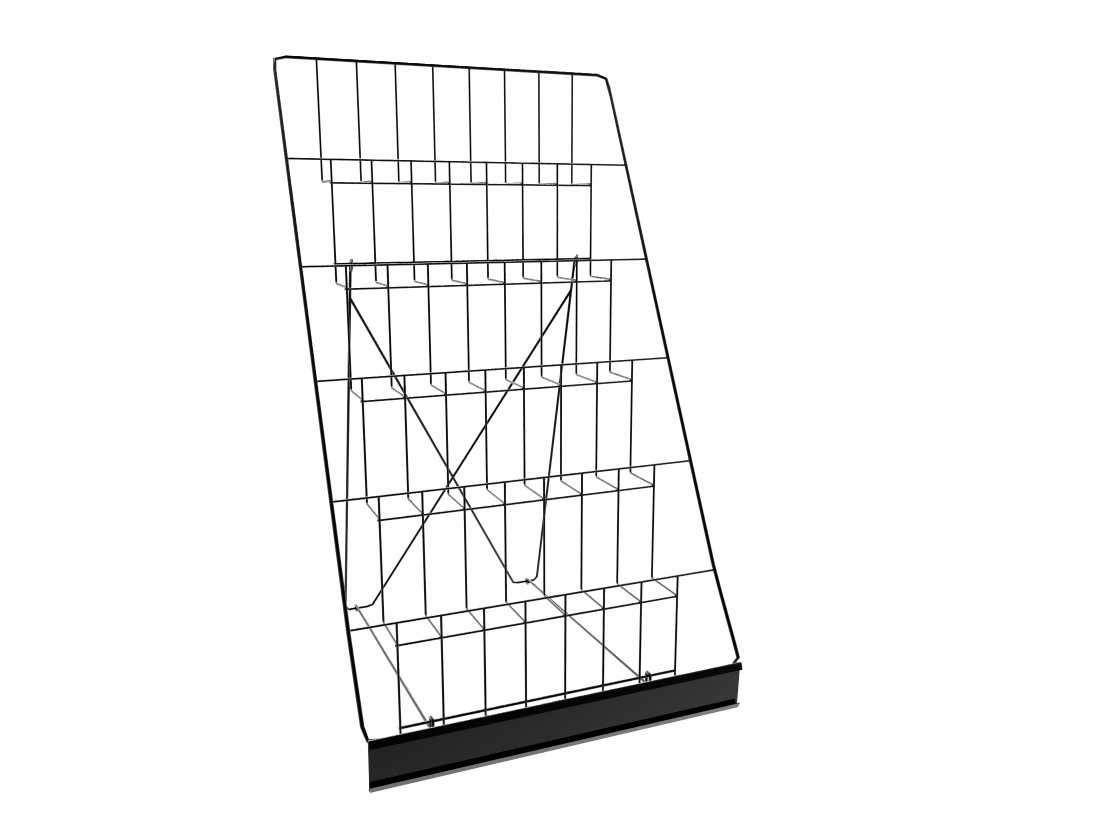 6-TIERED WIRE DISPLAY Rack for Tabletops Open Shelves with Header ...