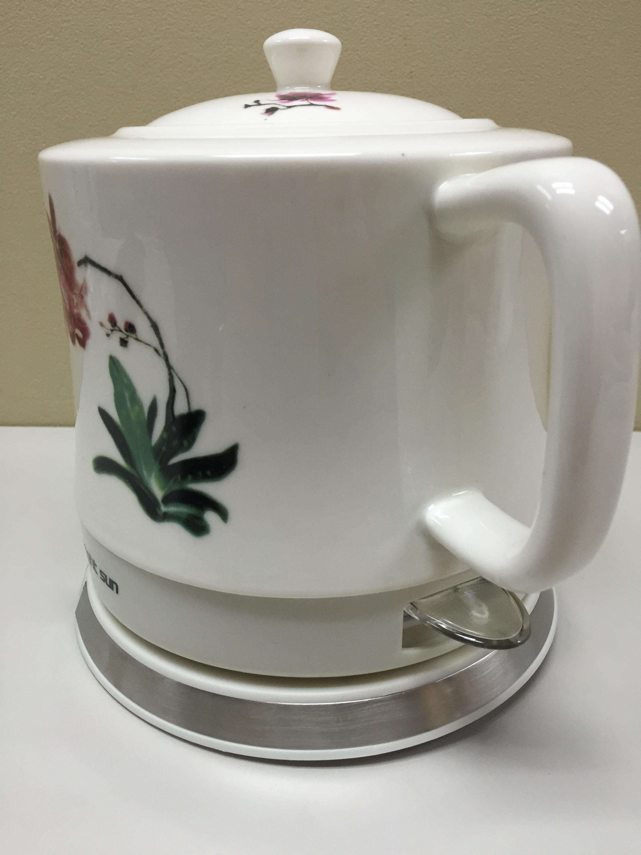 Porcelain Electric Kettle ~ Teapot ceramic electric kettle water orchid gift buffet