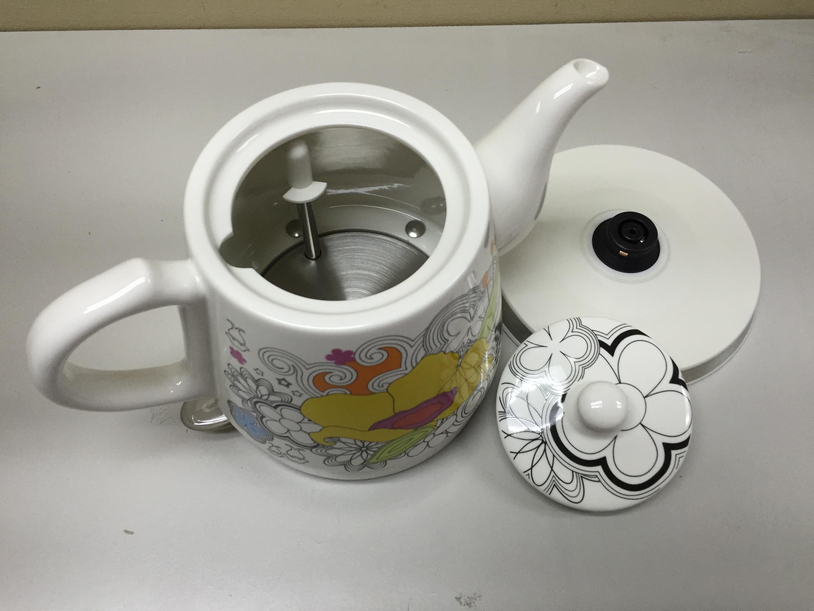 Porcelain Electric Kettle ~ Teapot ceramic electric kettle warm plate kitchen water