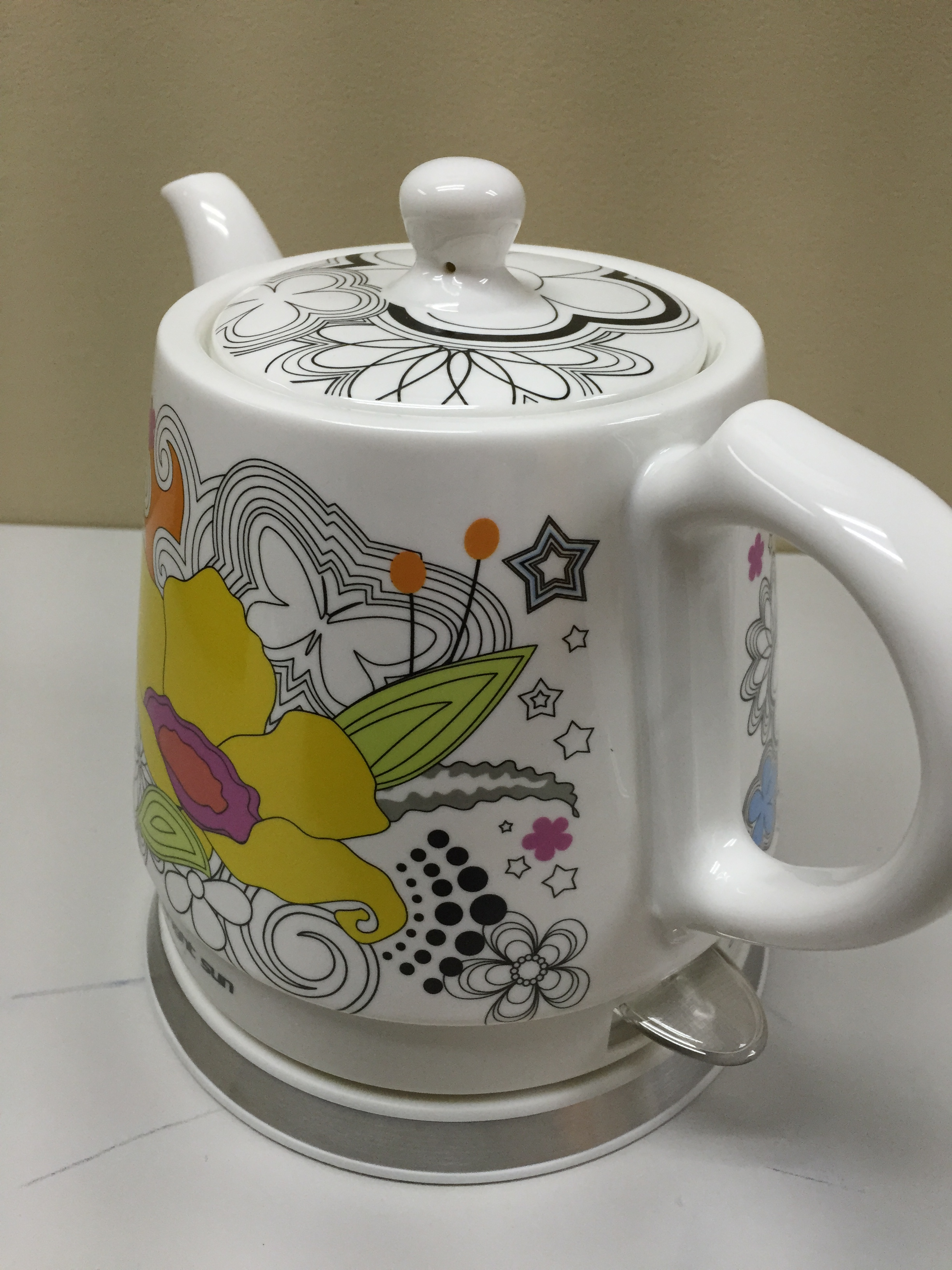 Teapot Ceramic Electric Kettle Warm Plate, Kitchen Water