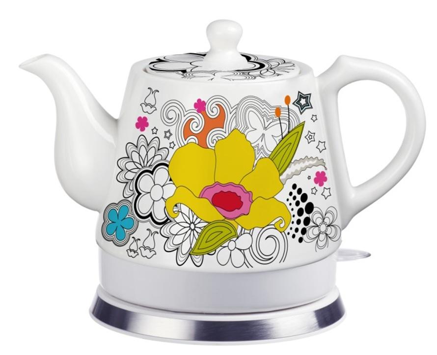 Teapot Ceramic Electric Kettle Warm Plate, Kitchen Water Boi