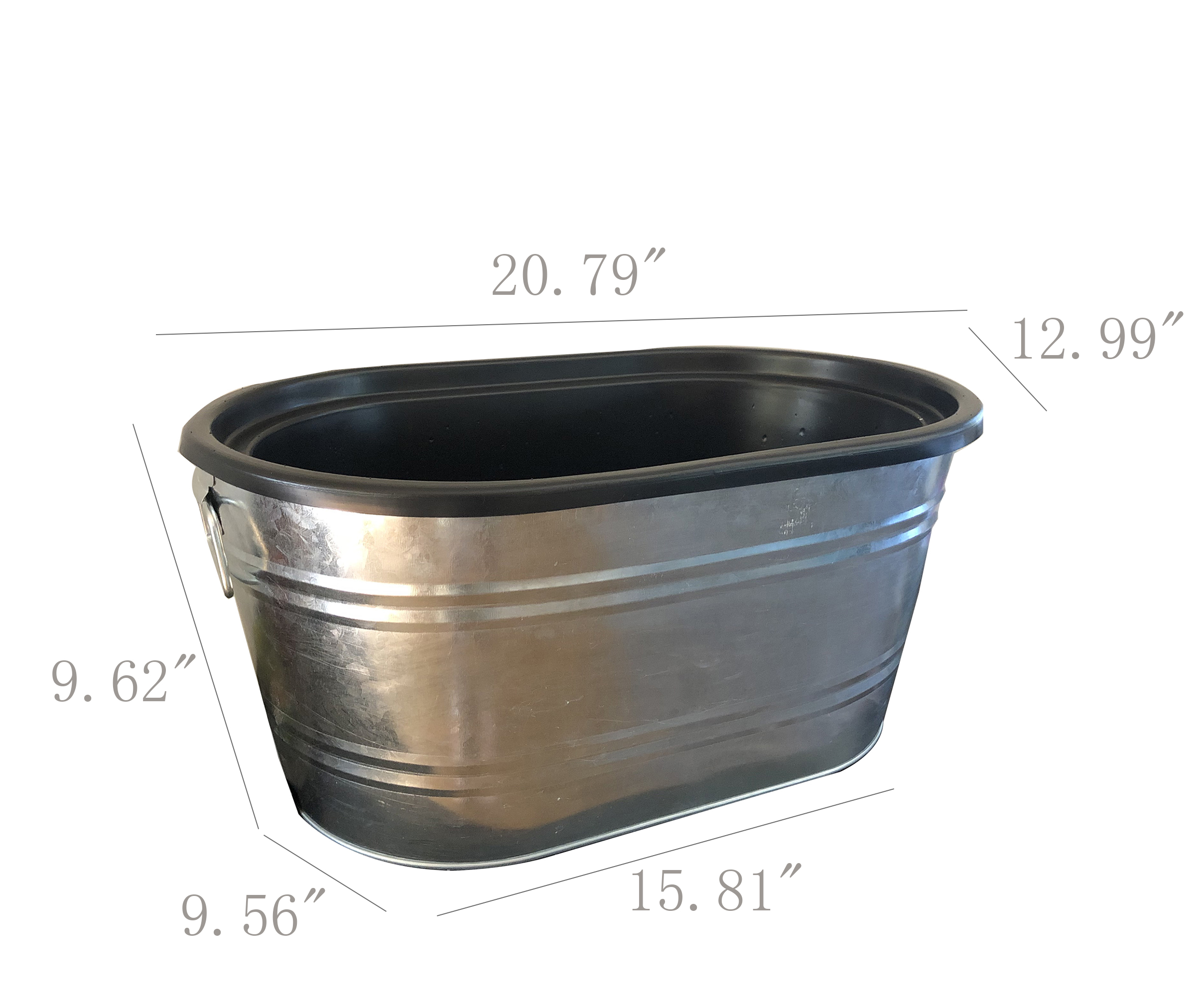 beverage ice tub galvanized metalparty bucket coke pepsi