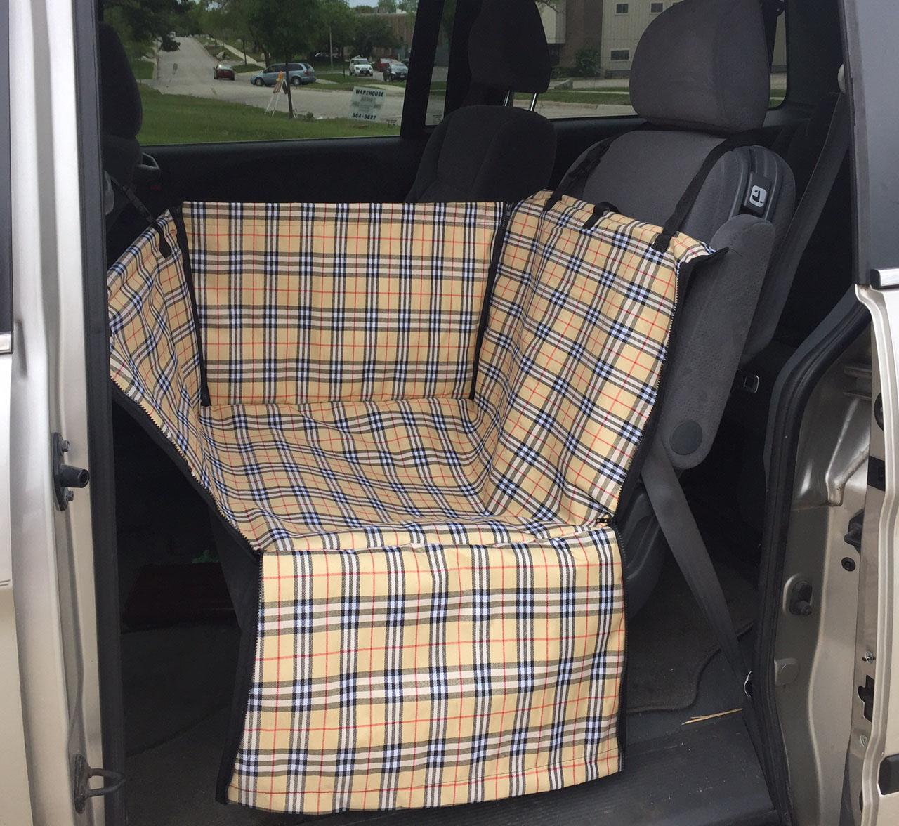 DOG CAT CAR Seat Basket Bed Carrier Pet Travel Booster Safety Back ...