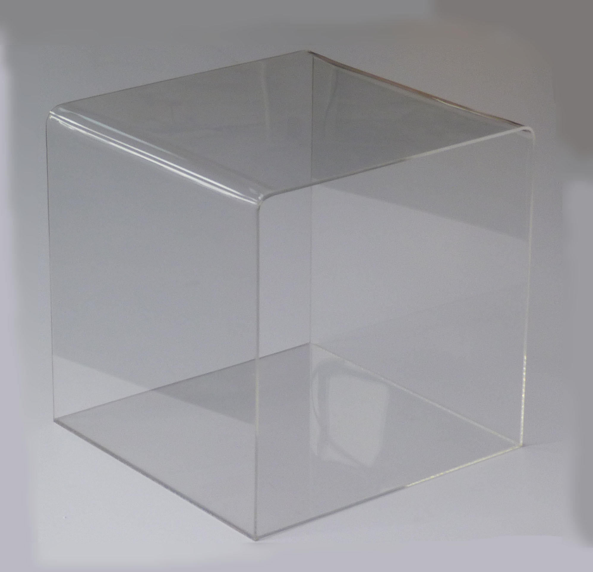 4 sided clear plexi acrylic transparent 12 cube display t shirts pants riser ebay. Black Bedroom Furniture Sets. Home Design Ideas