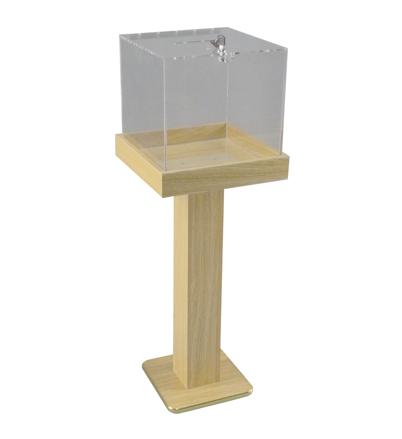 Wood Acrylic Floor Standing Tithing Box Offering Box ...
