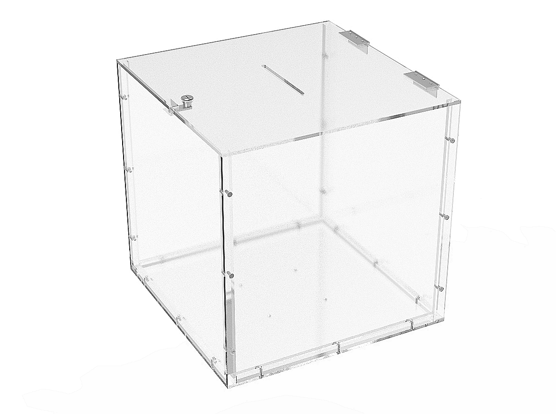 """15x15x15"""" Clear Plexiglass Tithing Box fering Box"""