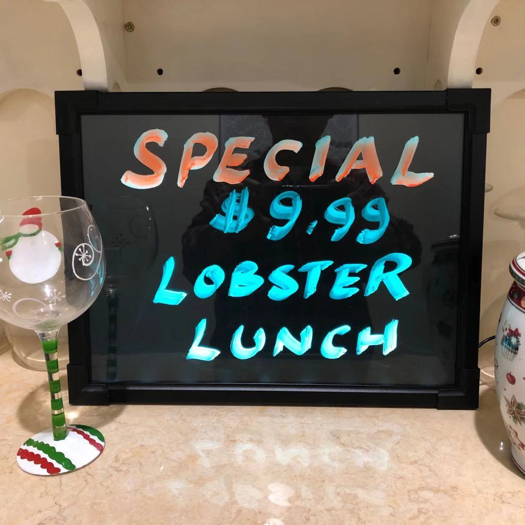 Led Menu Board 12 Quot X16 Quot Message Sign Display Dry Erase Neon