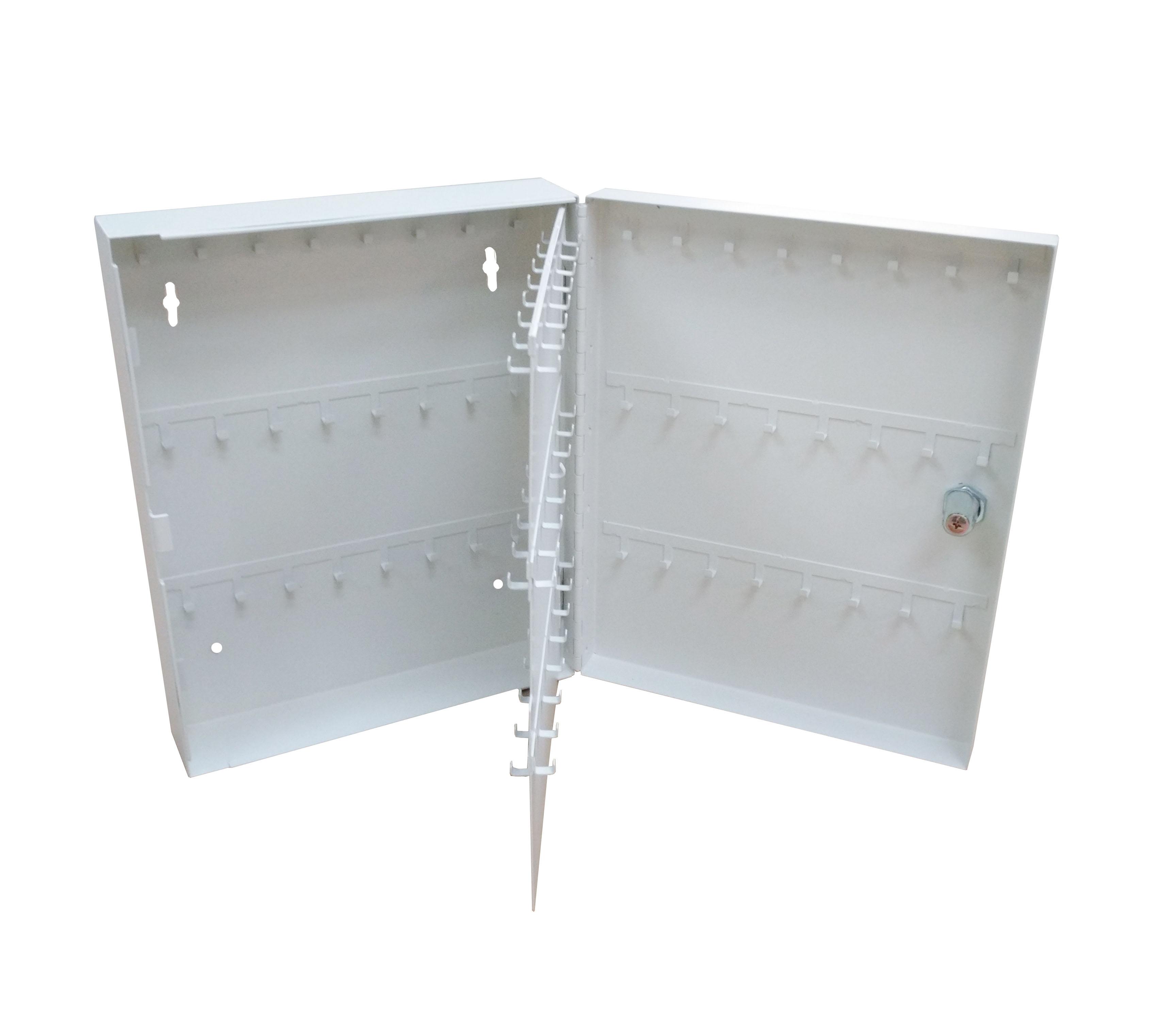 Secure Steel Key Storage Cabinet 93 Keys Gray Box Garage ...