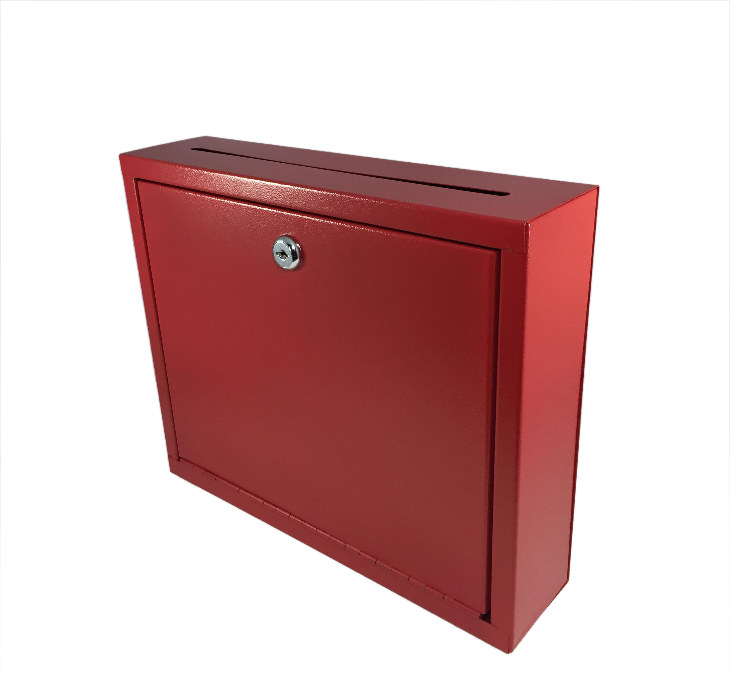 Saw Wall Mount Box : Wall mount counter suggestion box donation drop