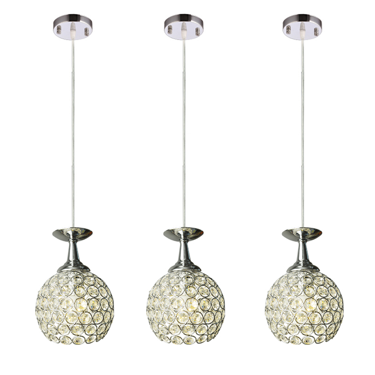 3 Light Hanging Ceiling Pendant Lamp Fixture Bar Lamp