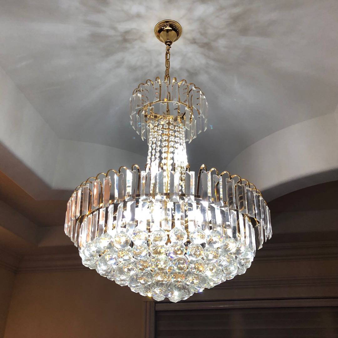 Crystal Foyer Chandelier : Crystal chandelier hanging foyer light fixture