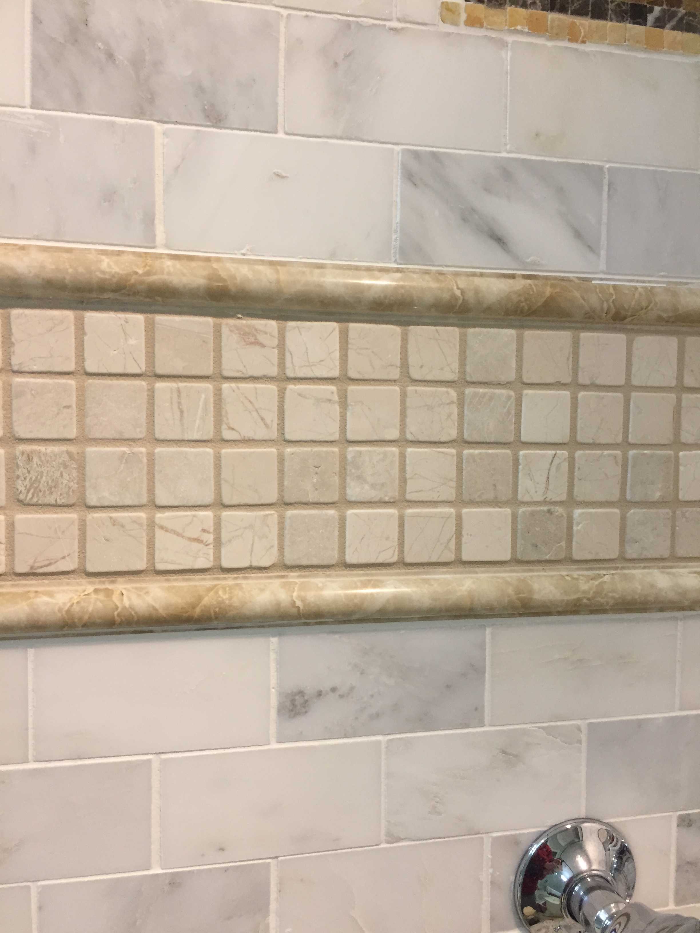Marble Mosaic Tile Polished Genuin Stone Mosaic Flooring Backsplash Shower Bath Ebay