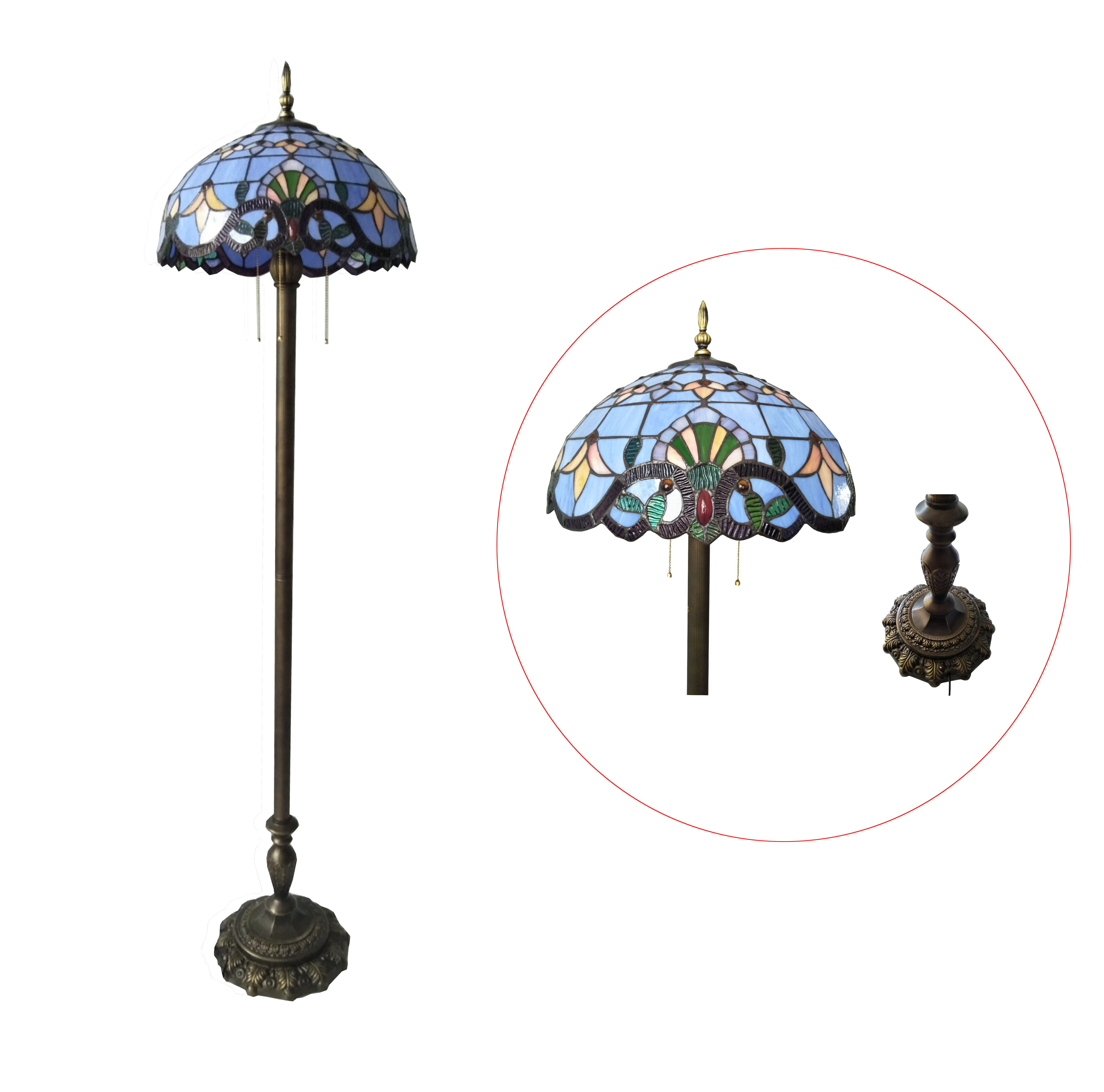 Tiffany floor lamp tiffany livingroom lamp stained glass shade image is loading tiffany floor lamp tiffany livingroom lamp stained glass aloadofball Image collections