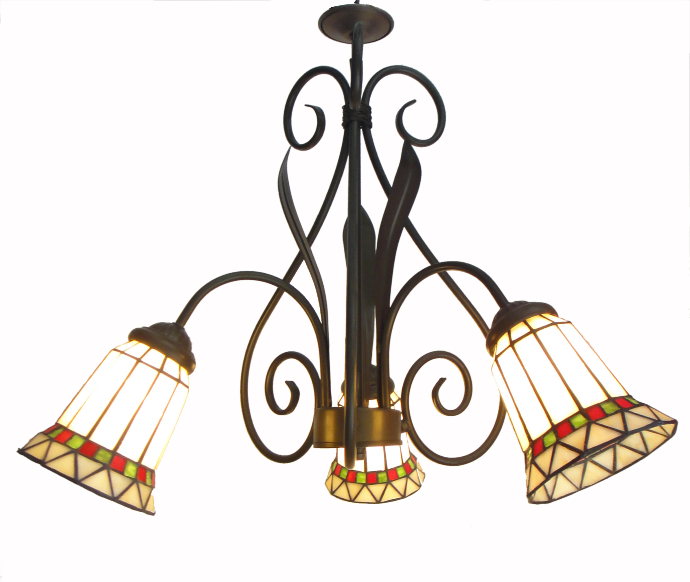 Image Is Loading Tiffany Chandelier Stained Gl Lamp Ceiling Pendant Light