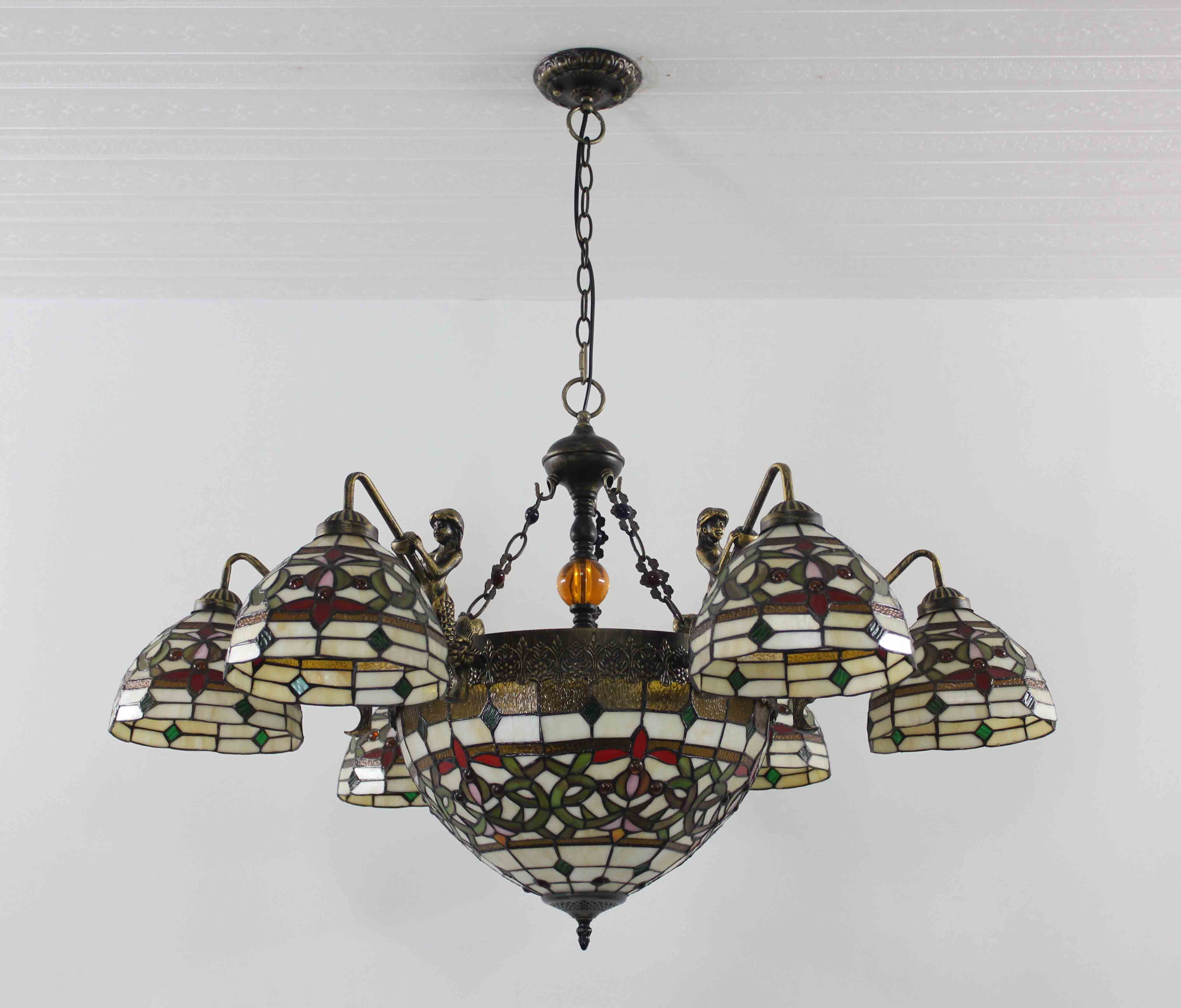 Tiffany Chandelier Stained Glass Lamp Ceiling Pendant
