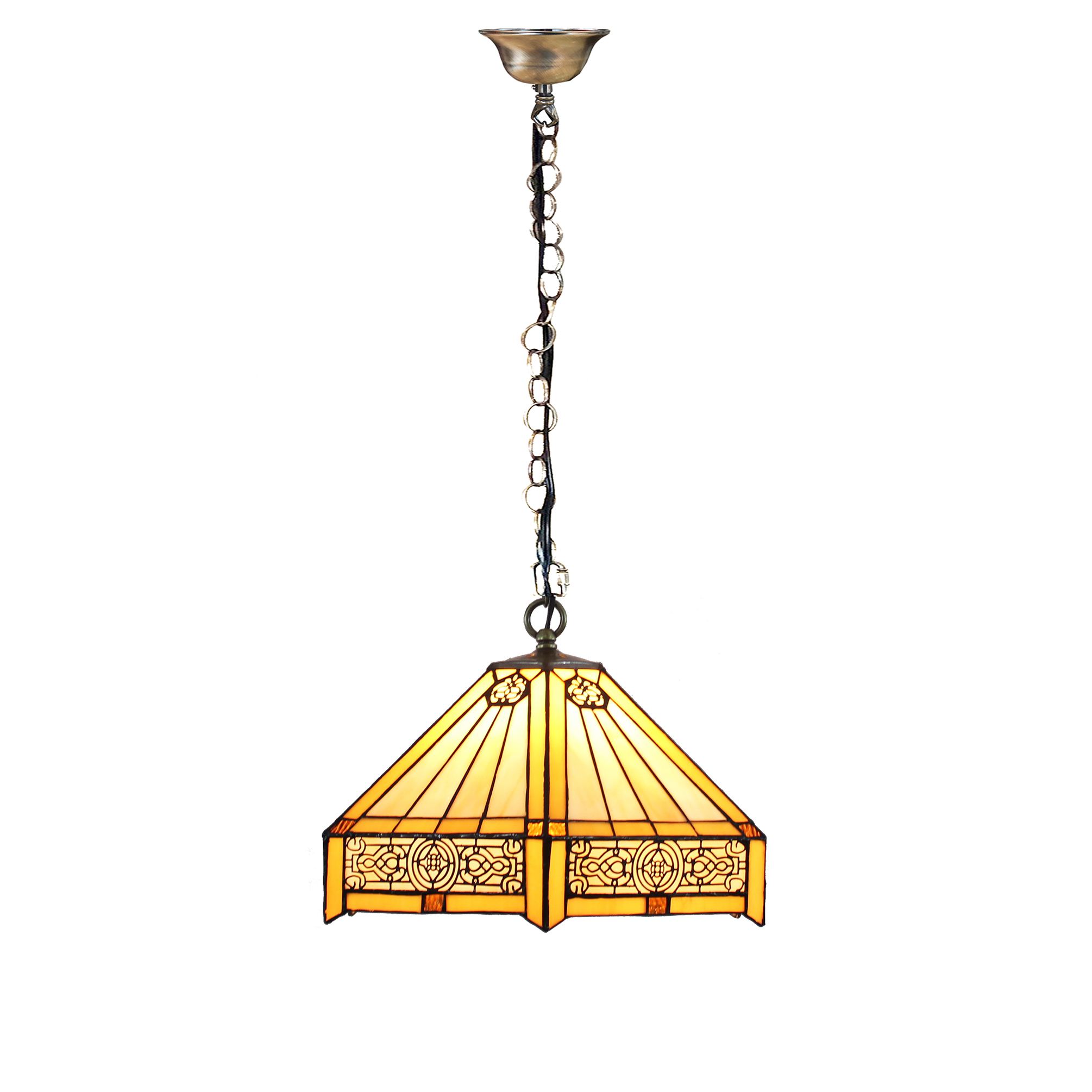 Tiffany Hanging Bar Light Stained Glass Island Lamp Ceiling Pendant - Hanging island light fixture