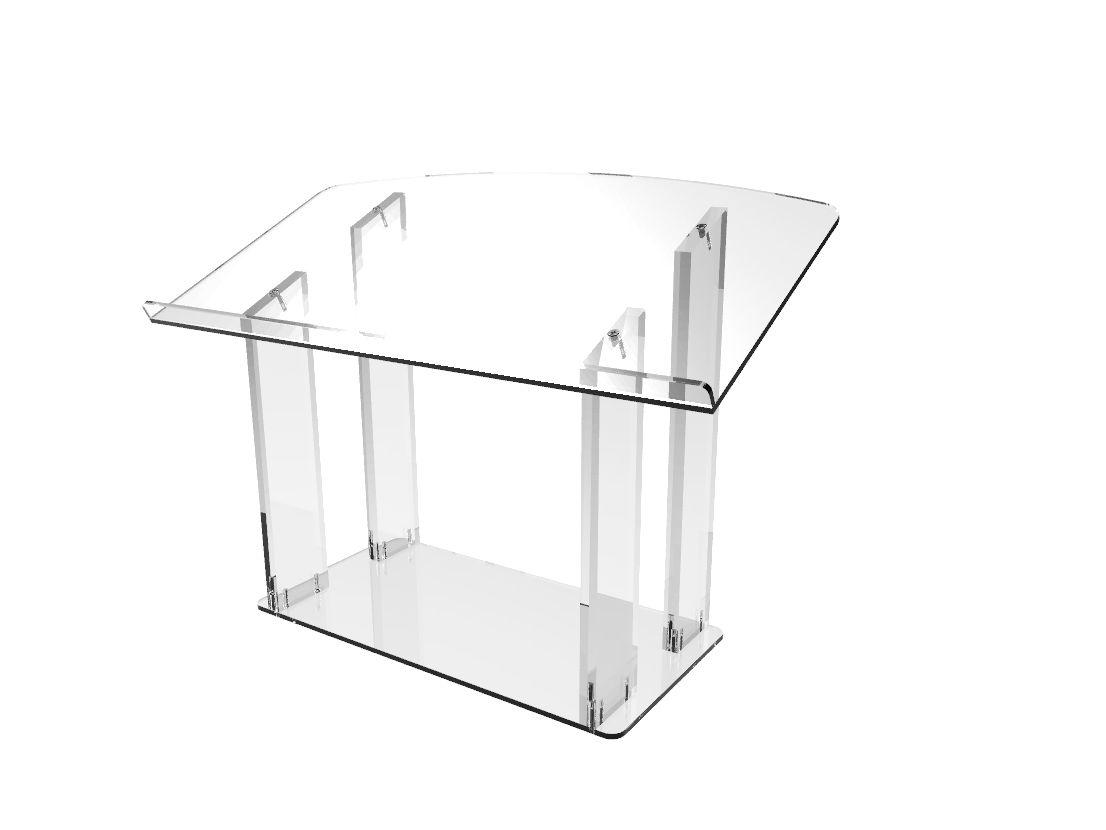 Image Is Loading Table Desktop Podium Acrylic Podium Lectern Pulpit  Plexiglass