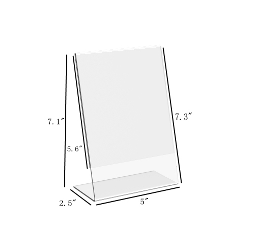 5X7 ACRYLIC SIGN Holer Menu Holder Picture Frame Photo Boots Frame ...