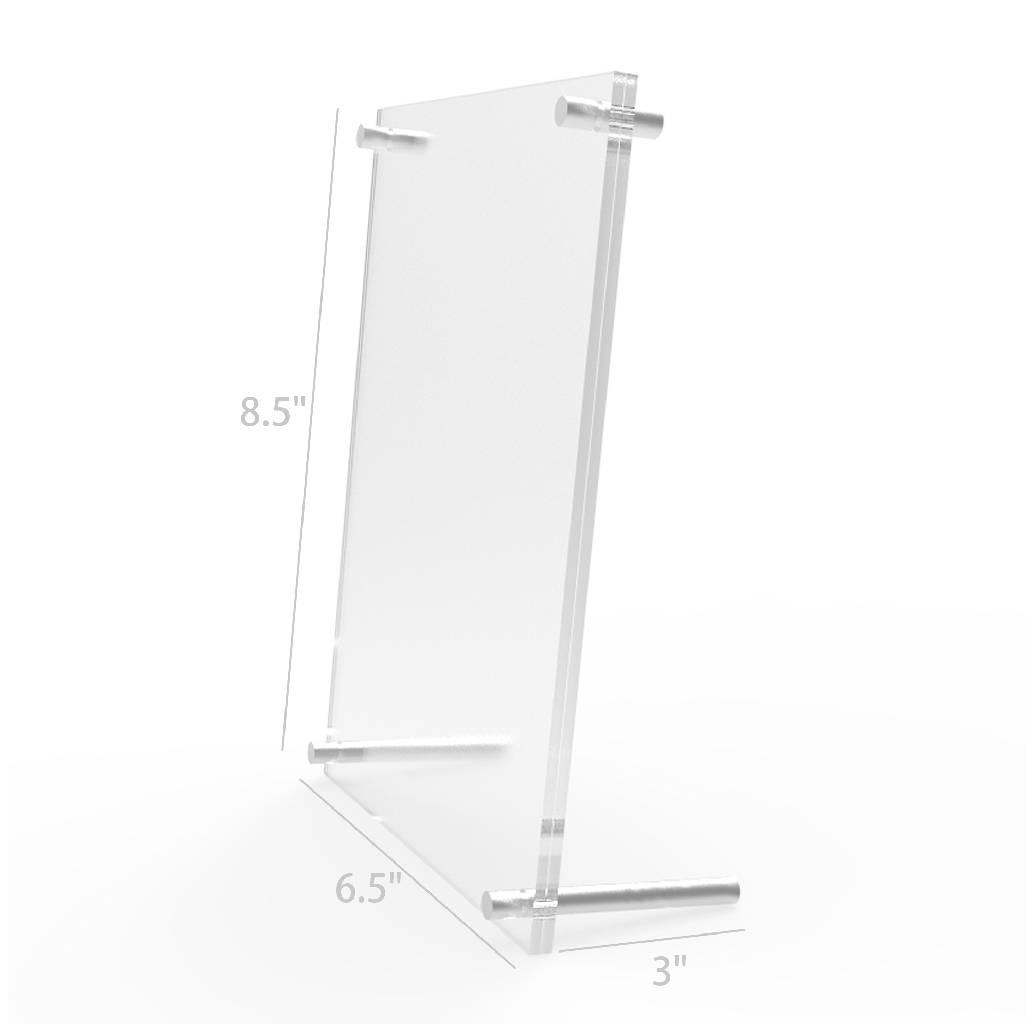 Acrylic Sign Holder Standoff Hardware Picture Frame Countertop Clear