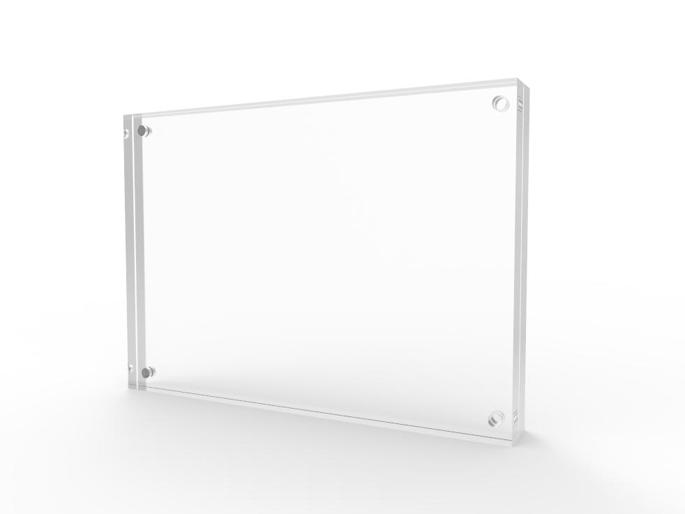 magnetic picture frame tabletop clear acrylic holder photo frame sign holder ebay. Black Bedroom Furniture Sets. Home Design Ideas