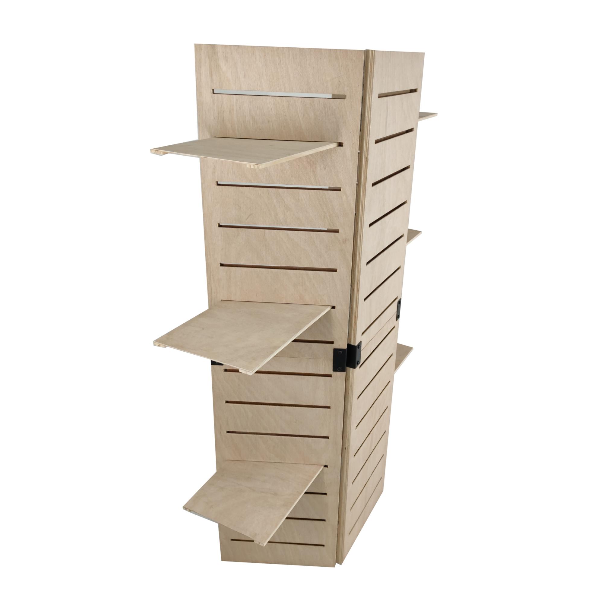 48 0 x 59 5 x 14 5 wooden retail shelving unit w 3. Black Bedroom Furniture Sets. Home Design Ideas