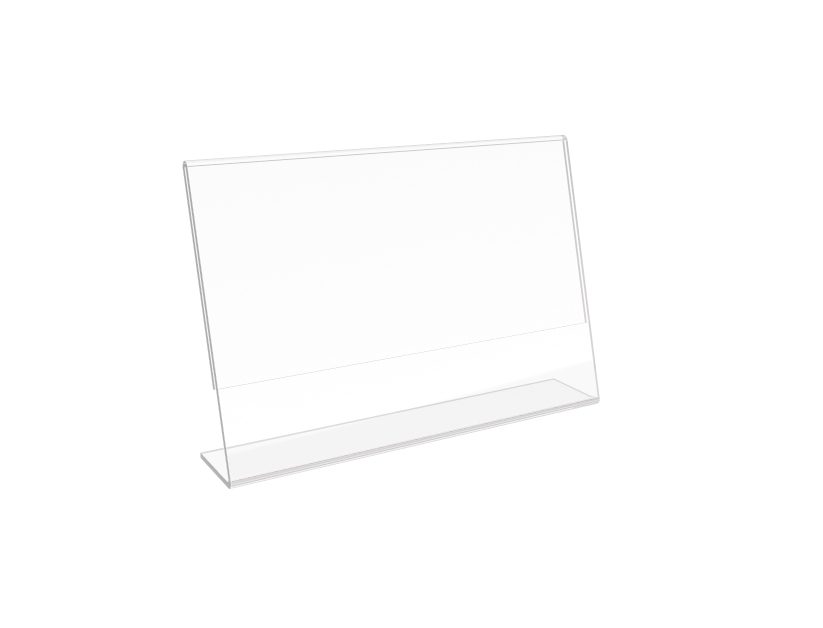 Clear Acrylic Sign Holder Table Tent Picture Frame Photo Sign Menu ...