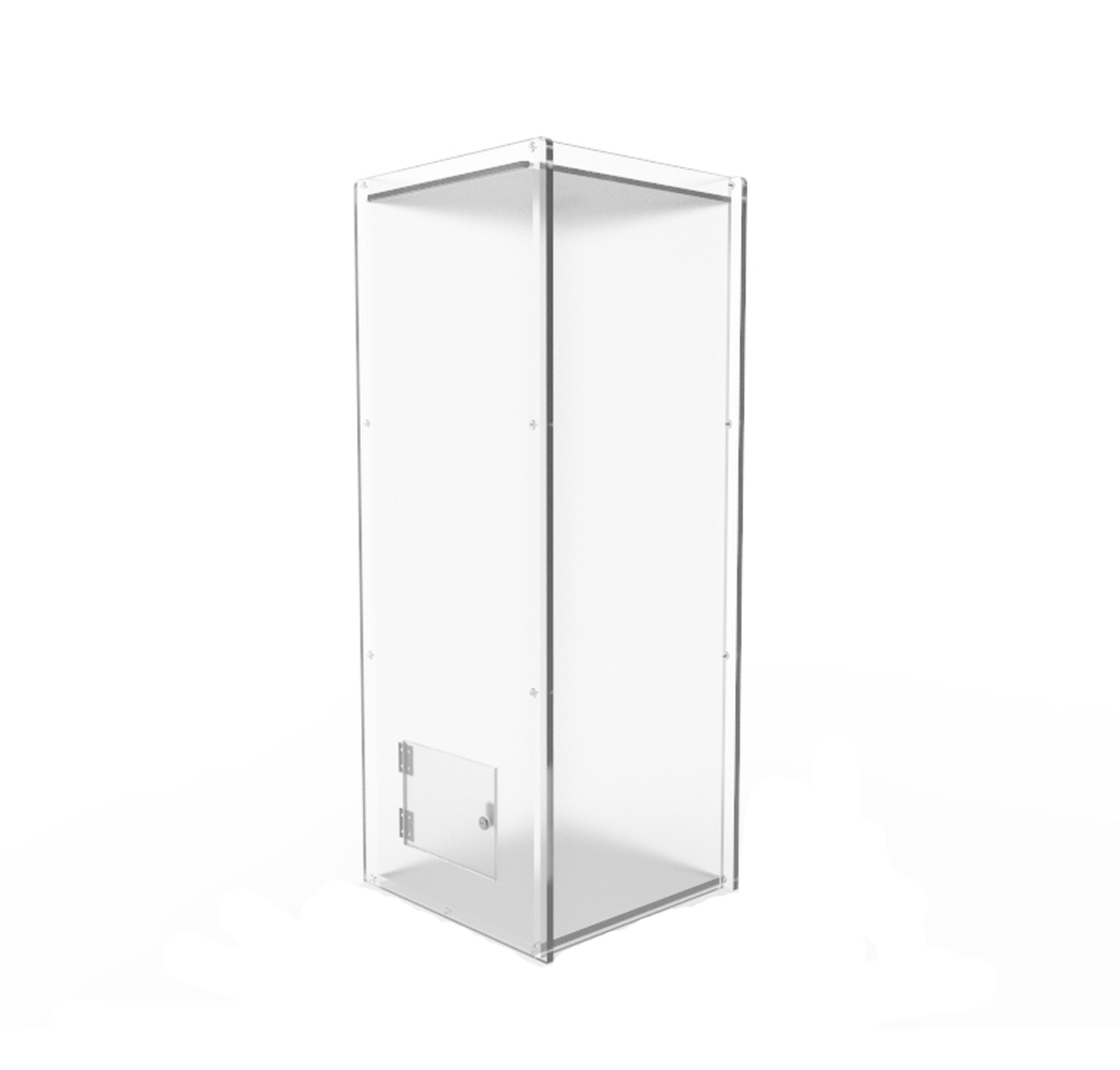 Acrylic Offering Boxes : Clear acrylic plexiglass charity donation box poll